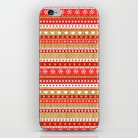 nordic iPhone & iPod Skins featuring Nordic Stripe by Faye Maguire Designs