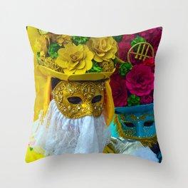 Carnevale of Venice Italy - Masquerade Mask Throw Pillow