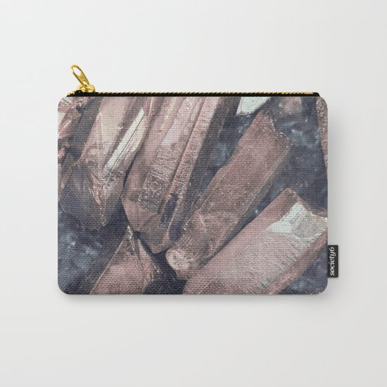 Pink Crystals Carry-All Pouch
