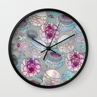 biology Wall Clocks featuring Cell Balls by Klara Acel