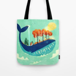 :::Tall Tree Whale::: Tote Bag