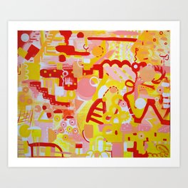 Naked. Loving. Joyful. Art Print