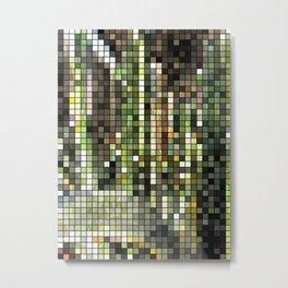 Cactus Garden Mosaic Metal Print