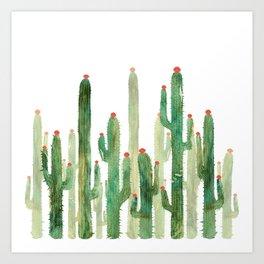 Cactus Four Art Print