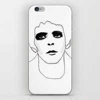 lou reed iPhone & iPod Skins featuring Lou Reed by Les Gutiérrez