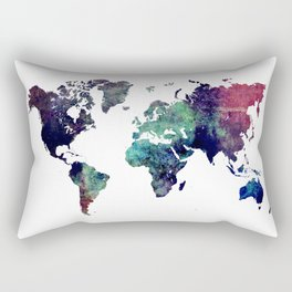 Map of the World After Ice Age Rectangular Pillow