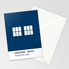 TARDIS Blue Pantone Stationery Cards