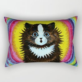 "Louis Wain's Cats ""Psychedelic Rainbow Cat"" Rectangular Pillow"