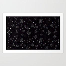 Space Octahedron Art Print