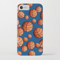 basketball iPhone & iPod Cases featuring Basketball by joanfriends