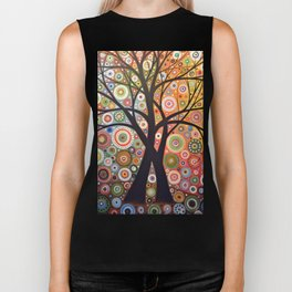 Abstract Art Landscape Original Painting ... Magic Garden Biker Tank