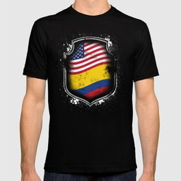 Colombian American Flag T-shirt