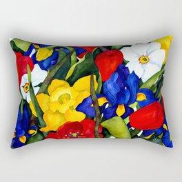 Floral Multiplication Rectangular Pillow
