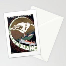 1927 Le Tour De Mont Blanc France PLM Travel Poster Stationery Cards