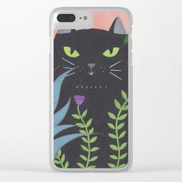Jungle Cat Clear iPhone Case