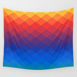 Polygonal Rainbow Wall Tapestry
