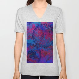 Abstract Spray Unisex V-Neck