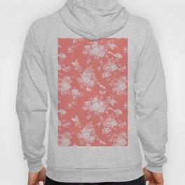 Vintage elegant coral white bohemian floral Hoody