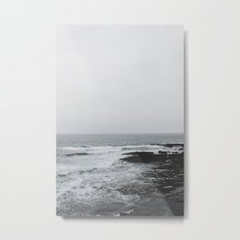 Wave + Rock (The Burren, Ireland) Metal Print
