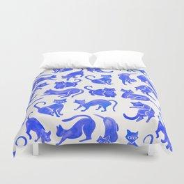 Cat Positions – Blue Palette Duvet Cover