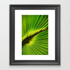 Green Burst Framed Art Print