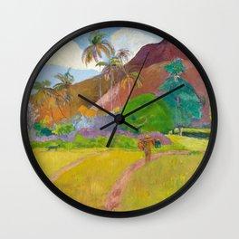 Tahitian Landscape by Paul Gauguin Wall Clock