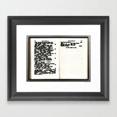 Redacted 01 Framed Art Print