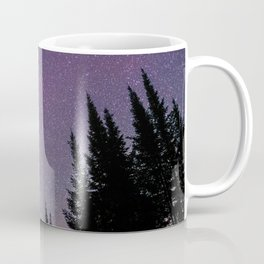 North Woods Starry Night Pines Coffee Mug
