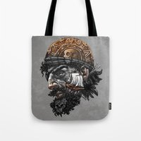 pirate ship Tote Bags featuring Pirate by Kiptoe