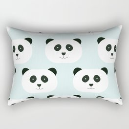 Panda Love- Mint Blue Rectangular Pillow