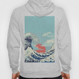 The Great Wave off Kanagawa stormy ocean with big waves Hoody