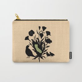 California - State Papercut Print Carry-All Pouch