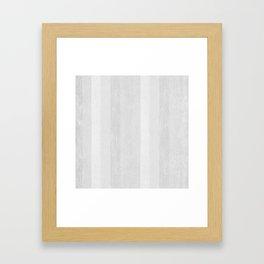Gray Stripe Pattern Framed Art Print