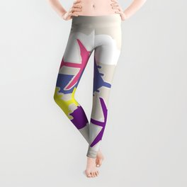 Colorful airplanes Leggings