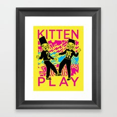 Kitten Play Framed Art Print