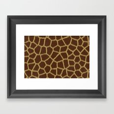Animal Patterns - Giraffe Framed Art Print