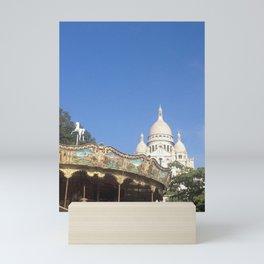 Sacre Coeur Carousel Mini Art Print
