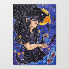 Noctis and Chocobo Canvas Print