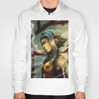 android Hoodies featuring Smoking Android by markclarkii