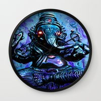 ganesh Wall Clocks featuring ganesh by Juan Pablo Fertitta