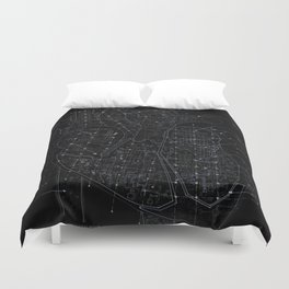 Chambers in BW Duvet Cover