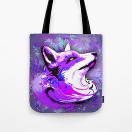 Purple Fox Spirit Tote Bag