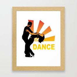 dancing couple silhouette - brazilian zouk Framed Art Print
