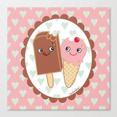 Ice creams in love Canvas Print