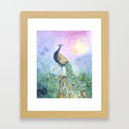 The Peacock Framed Art Print