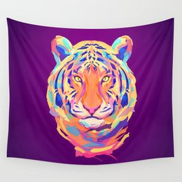 Neon tiger Wall Tapestry