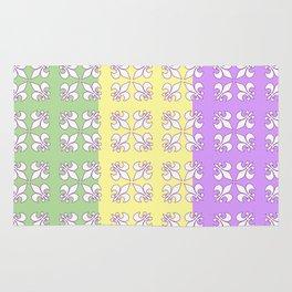 Tri colored MG with white fleur de lis Rug