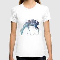city T-shirts featuring City Deer by Robert Farkas