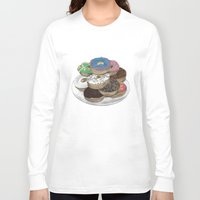 donuts Long Sleeve T-shirts featuring Donuts by Sil-la Lopez