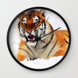 Snow Tiger Wall Clock